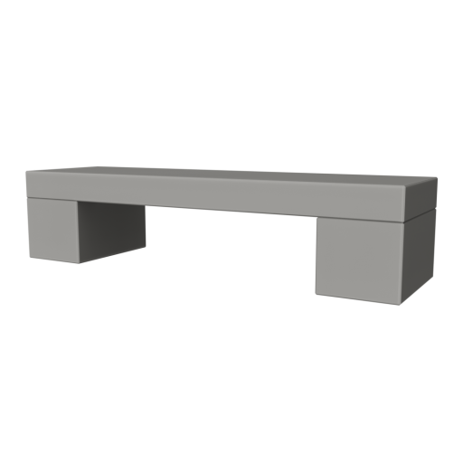 Concrete Bench 1 3D Model