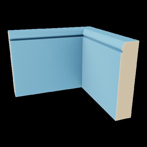 Baseboard 2 - Inside Corner 3D Model