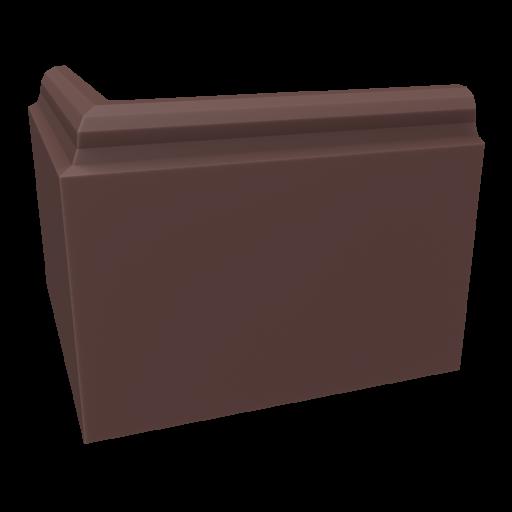 Baseboard 3 - Outside Corner 3D Model