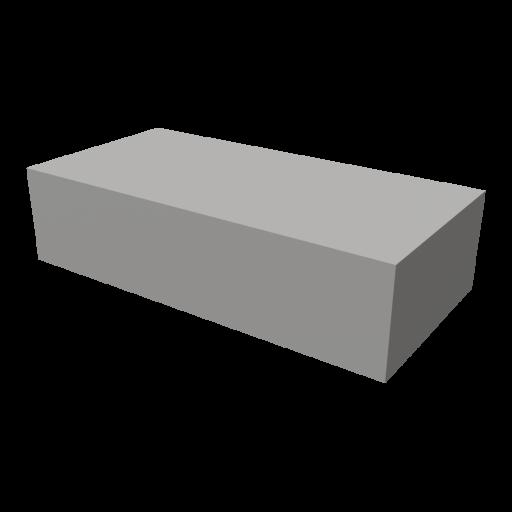 Concrete Block 1 - Cap 3D Model