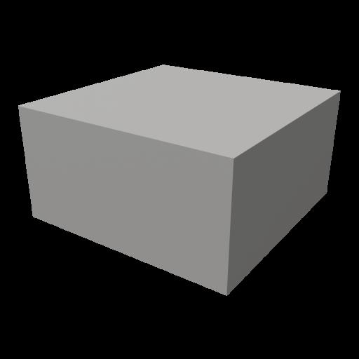Concrete Block 1 - Half Cap 3D Model