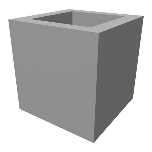 Concrete Block 1 - Half 3D Model