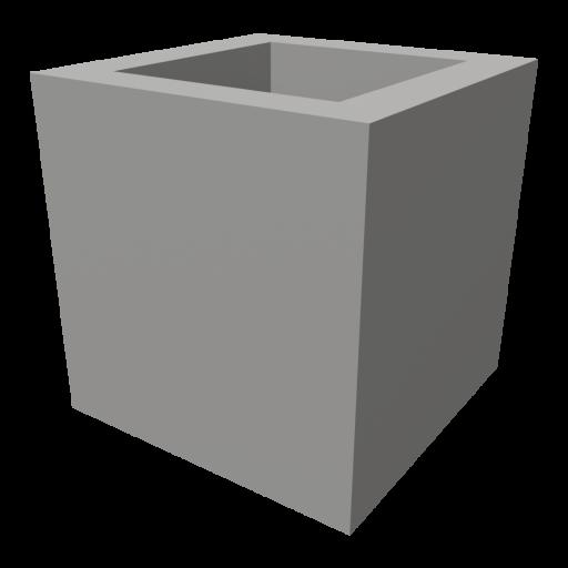Concrete Block 1 - Half 3D Model