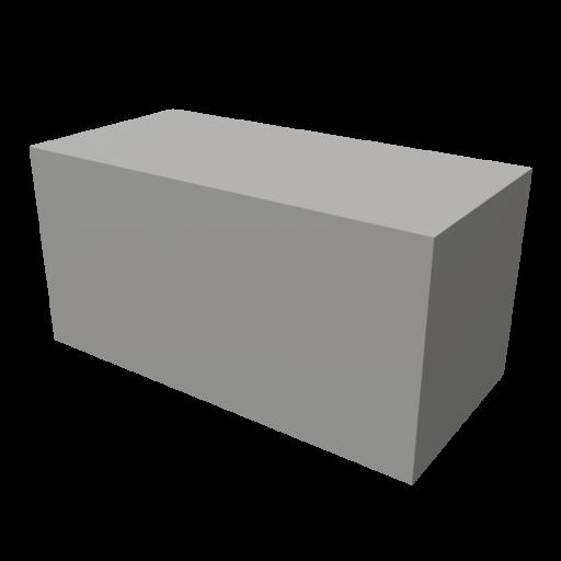Concrete Block 1 - Solid 3D Model
