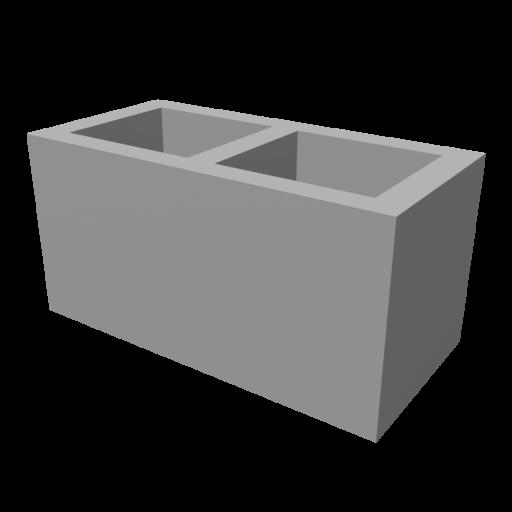 Concrete Block 1 3D Model