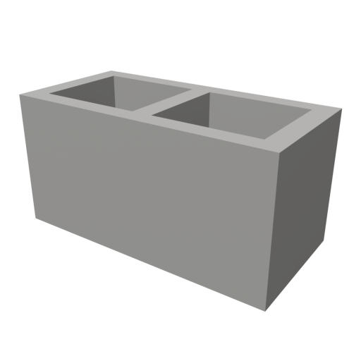 Concrete Block 1 3D Model