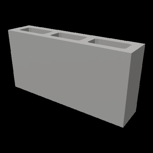 Concrete Block 2 3D Model