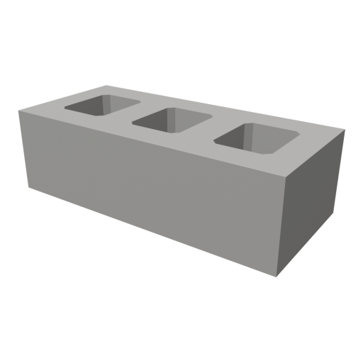 Concrete Brick 1 3D Model