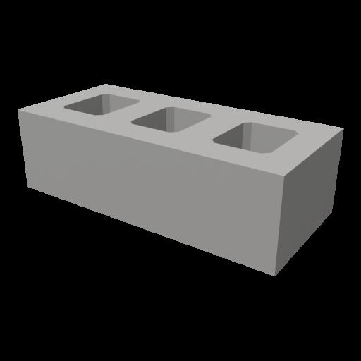 Concrete Brick 1 3D Model