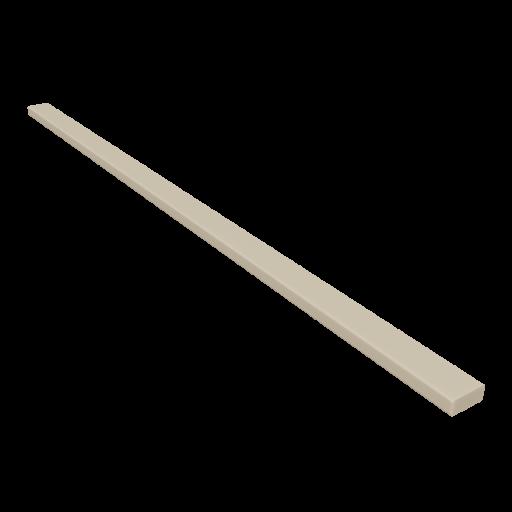 Wood 2x4x8 Board 1 - Beveled Pine 3D Model