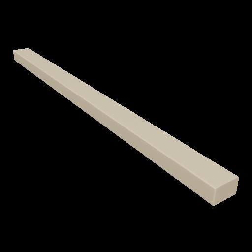 Wood 4x6x8 Board 1 - Beveled Pine 3D Model