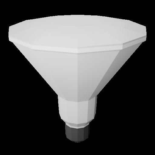 LED Flood Lamp Bulb 1 - Simplified 3D Model