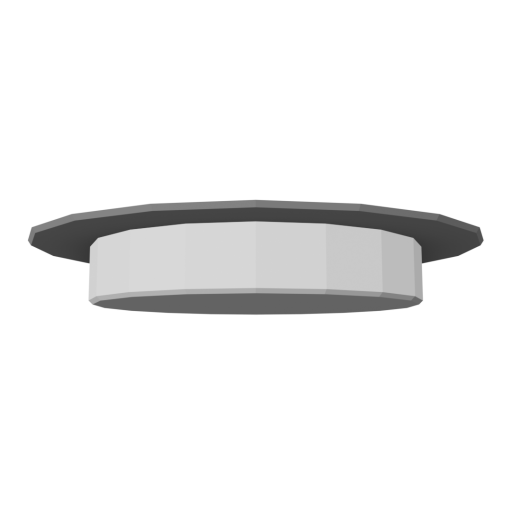 Recessed Light 1 - Shower - Silver 3D Model