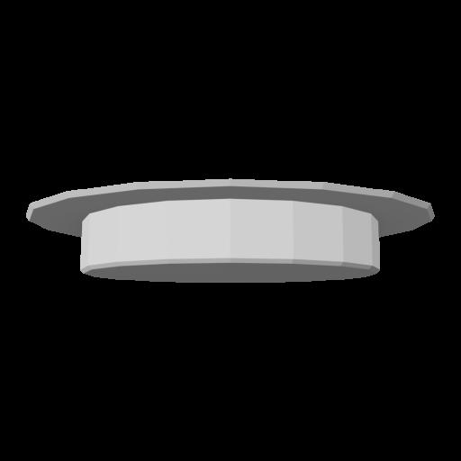 Recessed Light 1 - Shower - White 3D Model