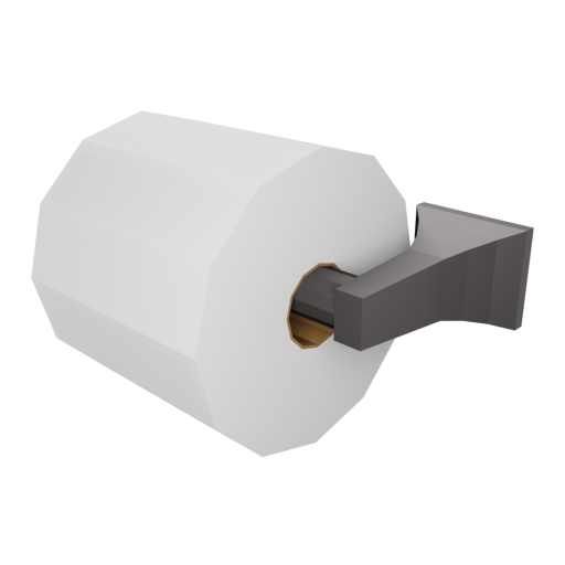 Toilet Paper Holder Wall Mount 1 - Loaded 3D Model