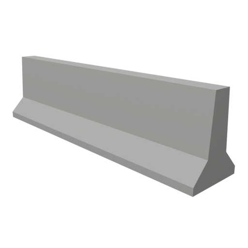 Highway Barrier Wall 1 3D Model