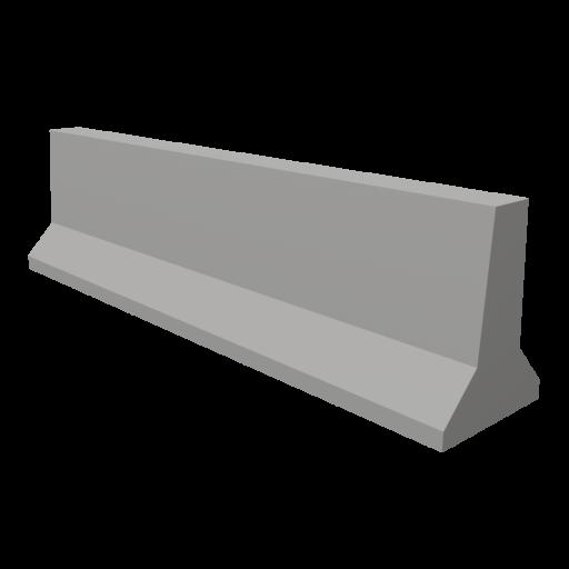 Highway Barrier Wall 1 3D Model