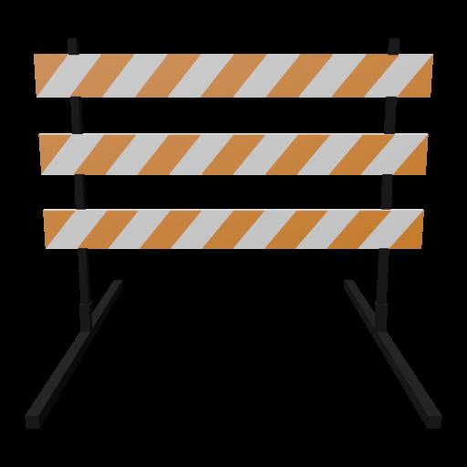 Traffic Barricade 1 3D Model