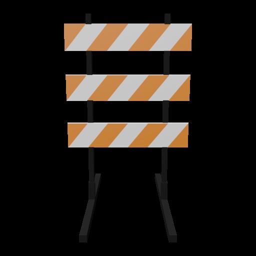 Traffic Barricade 2 3D Model
