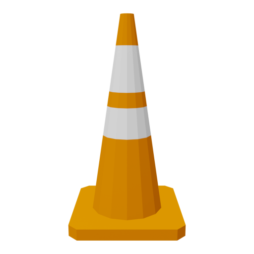 Traffic Cone 2 3D Model