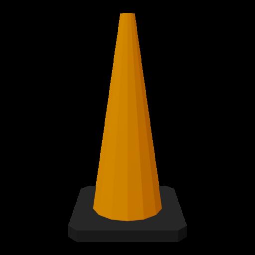 Traffic Cone 3 3D Model