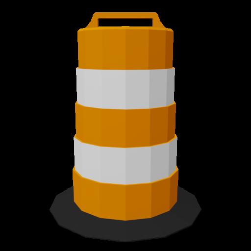 Traffic Drum 1 3D Model
