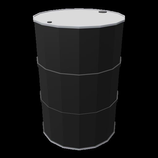 Drum 55 Gallon Metal 1 - Black 3D Model