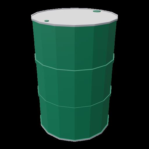 Drum 55 Gallon Metal 1 - Green 3D Model