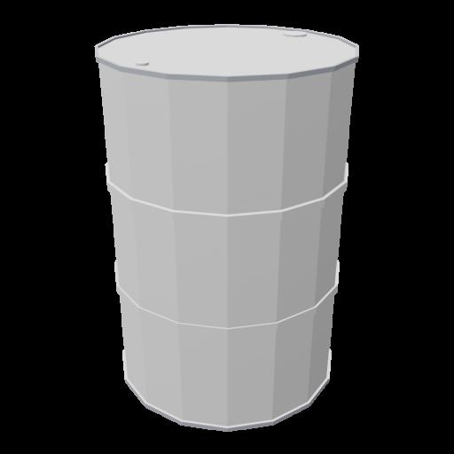 Drum 55 Gallon Metal 1 - White 3D Model