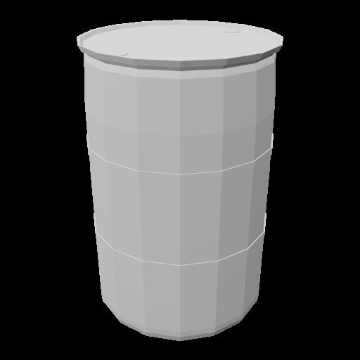 Drum 55 Gallon Plastic 1 - White 3D Model