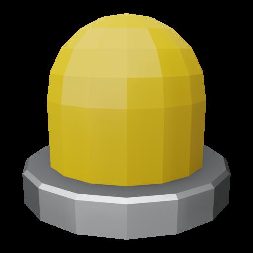 Panel Indicator 1 - Simplified Amber 3D Model