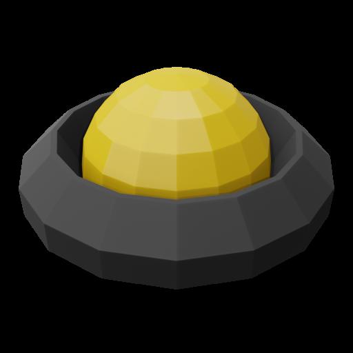 Panel Indicator 3 - Simplified Amber 3D Model