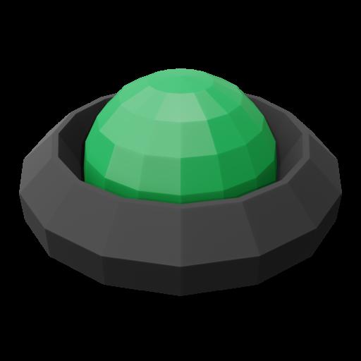 Panel Indicator 3 - Simplified Green 3D Model