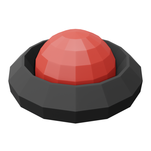 Panel Indicator 3 - Simplified Red 3D Model