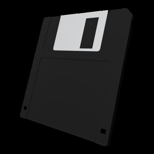 3.5 Inch Floppy Disk 1 - Black 3D Model