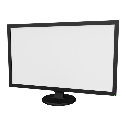 Desktop Monitor 1 3D Model
