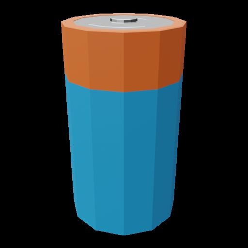 Battery D 1 3D Model