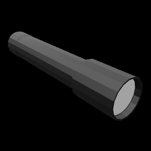 Flashlight 1 - Black 3D Model