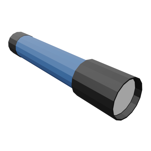 Flashlight 1 - Blue 3D Model