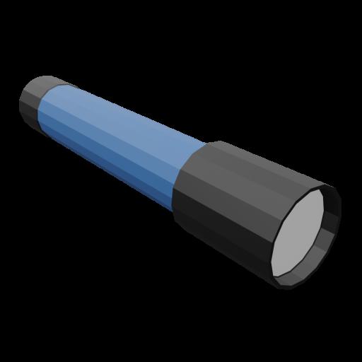 Flashlight 1 - Blue 3D Model