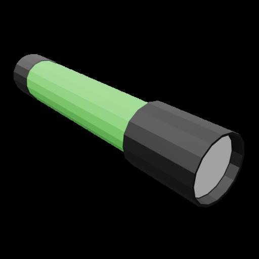 Flashlight 1 - Green 3D Model