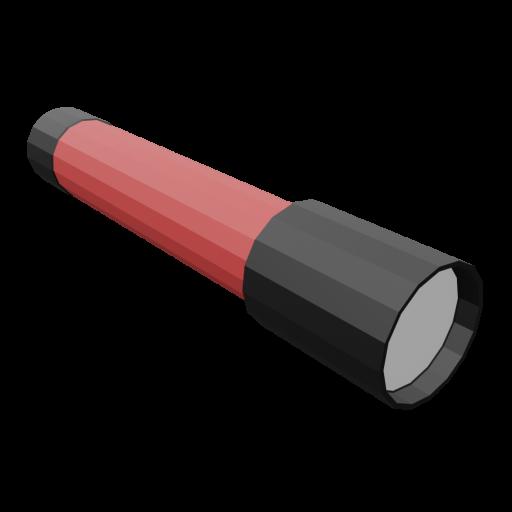 Flashlight 1 - Red 3D Model