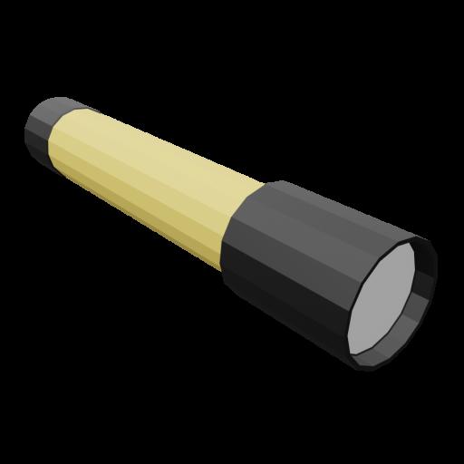 Flashlight 1 - Yellow 3D Model