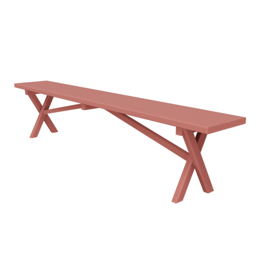 Bench 1 - Red 3D Model