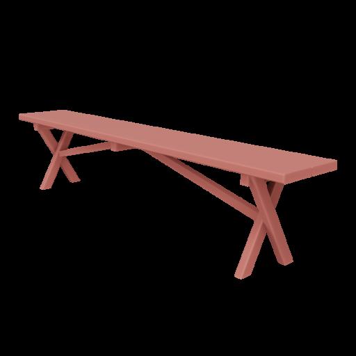 Bench 1 - Red 3D Model