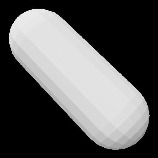 Pill 1 - White 3D Model