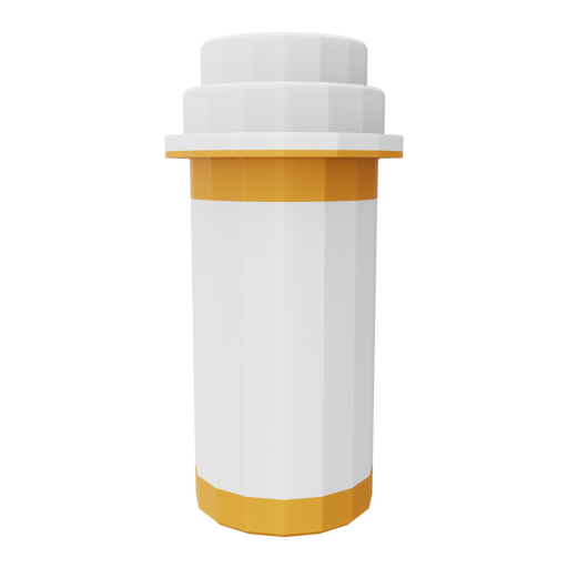 Pill Bottle 1 3D Model