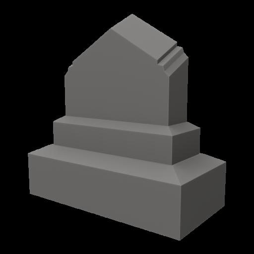 Gravestone 4 3D Model