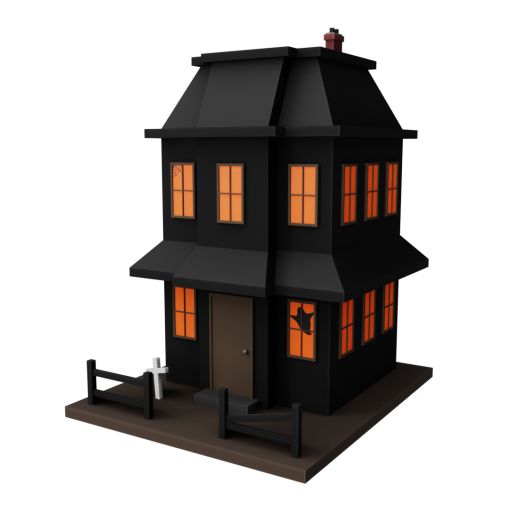 Haunted House Decoration 1 3D Model