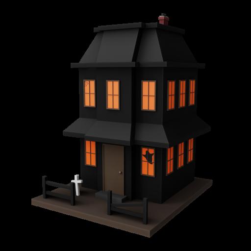 Haunted House Decoration 1 3D Model